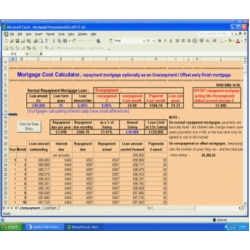 Mortgage Cost Calculator in Microsoft Excel