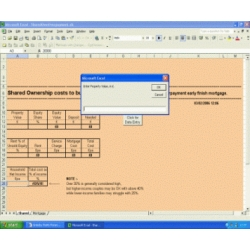 Shared Ownership Cost Calculator custom Excel
